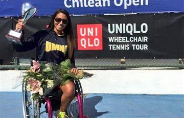 Colombiana gana Abierto de Chile en silla de ruedas