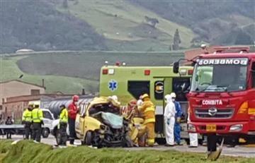 Accidente en Boyacá deja tres muertos