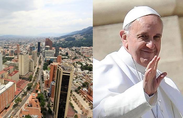 Papa Francisco: Este será el recorrido del pontífice en Bogotá