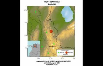 Sismo de 4,9 en Norte de Santander