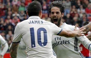 James Rodríguez titular en la victoria del Real Madrid