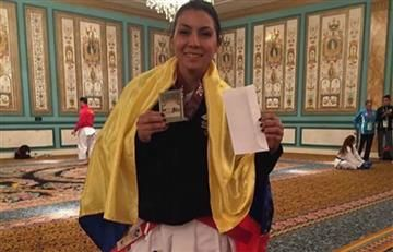 Colombiana Stella Urango gana oro en US Open de Karate