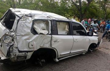 Martín Elías: Ladrones saquearon camioneta en la que se accidentó