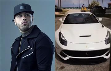 A Nicky Jam le 'robaron' su nuevo Ferrari