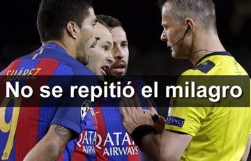 Barcelona no repitió el milagro