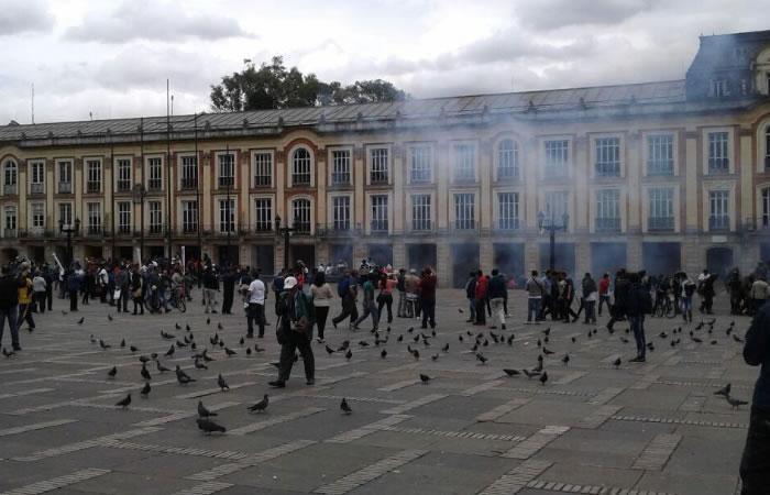 Bogotá: Esmad reprime una protesta de personas con discapacidad