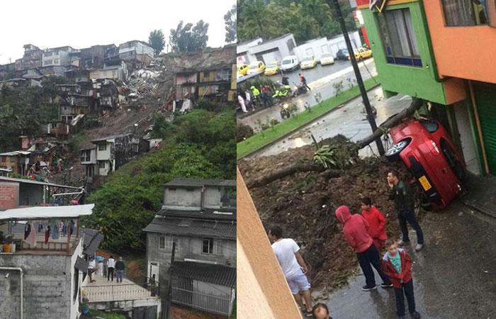 Deslizamientos en Manizales dejan varios muertos y desaparecidos
