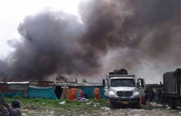 Incendio en Suba en medio de un desalojo