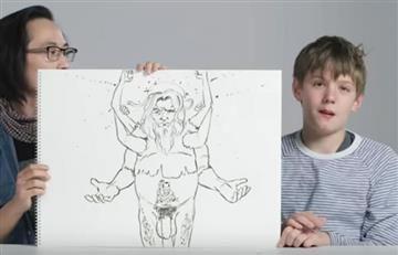 YouTube: ¿Cómo ven los niños a Dios? Ilustrador lo dibuja