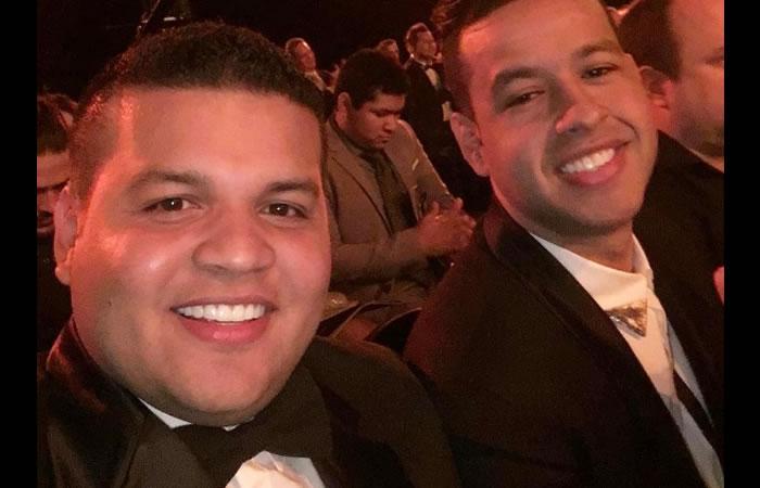 Martín Elías junto a su manager, Juan Carlos Vega. Foto: Instagram