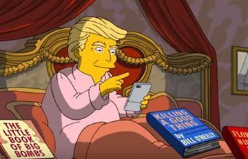 Los Simpson parodian a Donald Trump en sus primeros 100 días de presidente