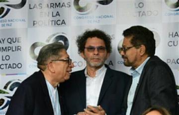 Farc se reúnen en plaza de Bolívar durante clausura de Congreso de Paz