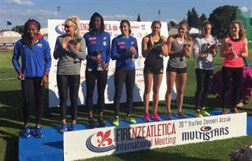 Evelis Aguilar ganó en Italia y recibió el trofeo Zernei