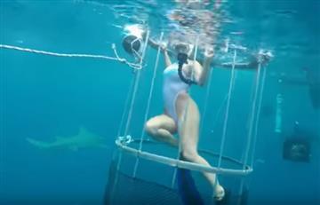 Actriz porno es atacada por un tiburón en plena filmación