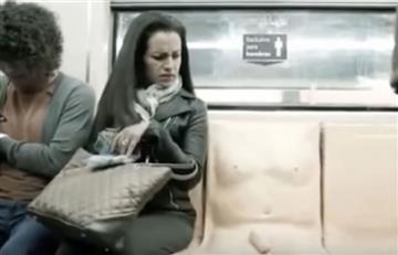 Asiento con pene muestra el acoso que sufren las mujeres