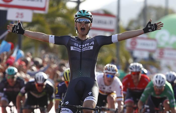 Giro de Italia: Pölstlberger vence a los sprinters y gana etapa 1