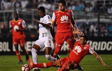 Santa Fe no pudo contra Santos y cayó en la Libertadores