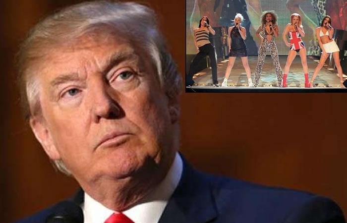 Video: Trump 'desnudó' a una Spice Girls frente a Melania