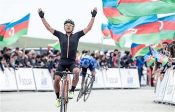 Edwin Ávila, ganador de la 4ta etapa del Tour de Azerbaiyán
