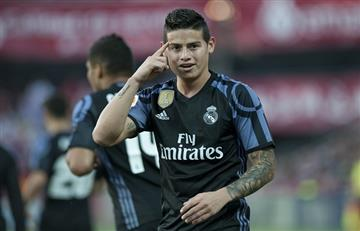 James Rodríguez marca dos goles en diez minutos