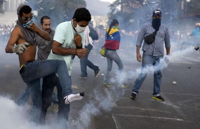 Protestas en Venezuela. Foto: AFP.