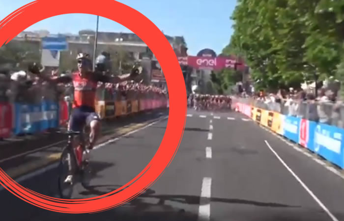 Giro de Italia: Celebró antes de tiempo e hizo el ridículo del centenario