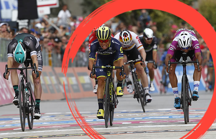 Giro de Italia: Ewan gana etapa 7 y por milésimas Gaviria segundo