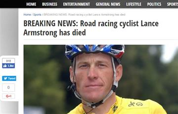 ¿Lance Armstrong murió?