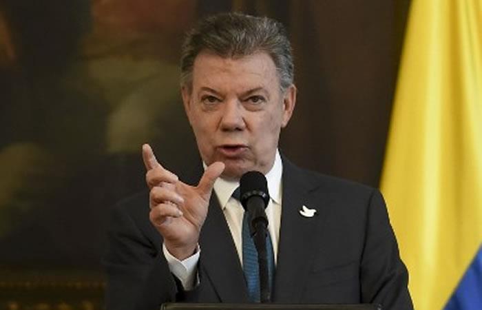 Juan Manuel Santos. Foto: AFP