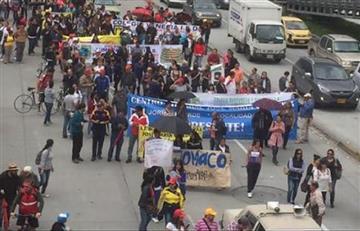 Bogotá: Trabajadores del Estado protestan contra el Gobierno Nacional