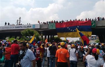 Venezuela y el fuerte plantón de opositores contra Maduro