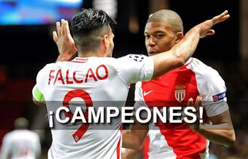 Falcao y el Mónaco campeones de la Ligue 1