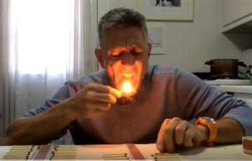 Viral: Rompe récord al apagar 37 fósforos con su lengua