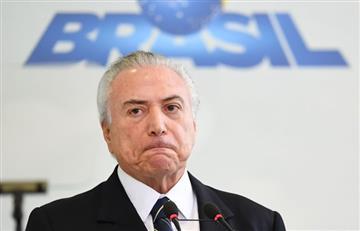 El presidente Temer genera un terremoto político en Brasil