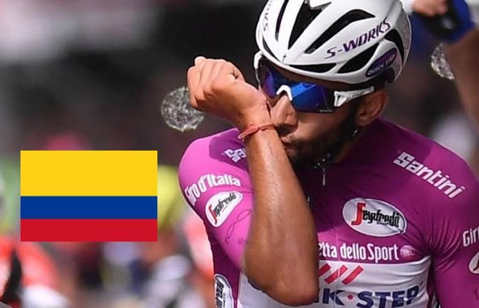 Gaviria logra histórico dato para el ciclismo colombiano en el Giro