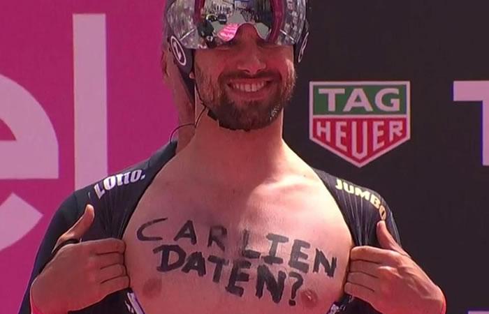 Giro de Italia: Pide una cita a una chica en plena etapa y ella respondió así