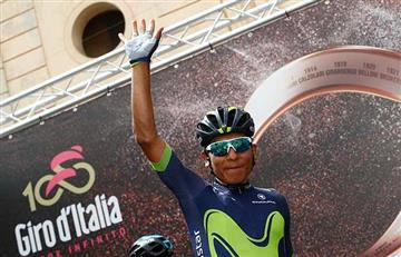Nairo Quintana fue segundo en la etapa 15 del Giro de Italia