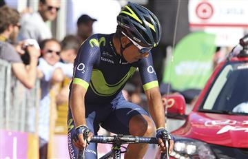 Nairo Quintana sufre una fuerte caída en el Giro de Italia
