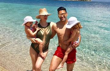 Falcao García ya disfruta de sus vacaciones en compañía de su familia