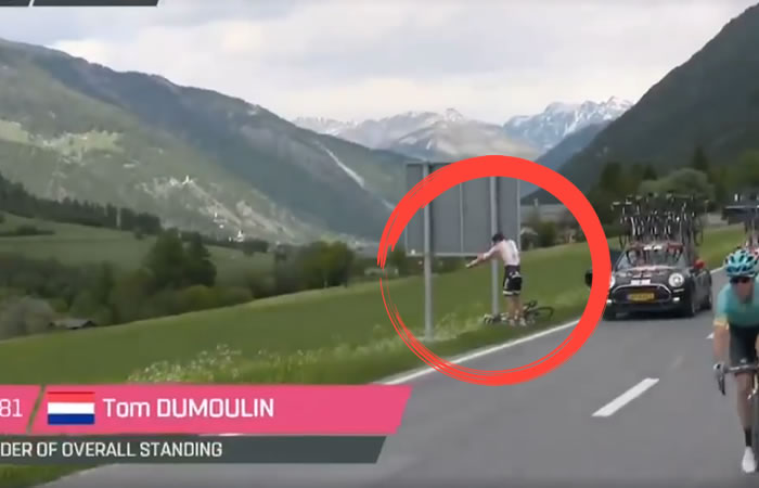 Giro de Italia: El momento en que el estómago traicionó a Dumoulin