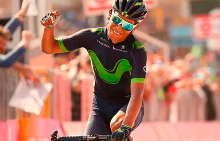 Giro de Italia: Nairo a un paso de quedar líder