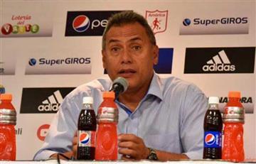 Cali vs. América: Hernán Torres no pudo terminar la rueda de prensa