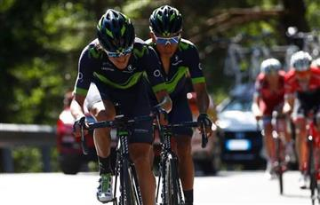 Giro de Italia: El gran gesto de Winner Anacona con Nairo Quintana