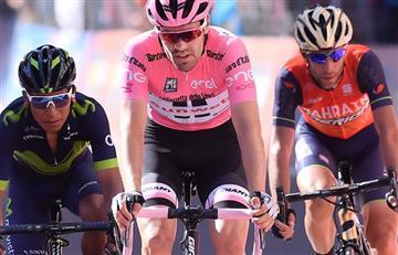 """Giro de Italia: Nairo y Nibali habrían """"atacado"""" mientras Dumoulin orinaba"""