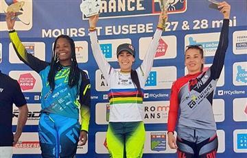 Mariana Pajón está imparable en la Copa de BMX en Francia.