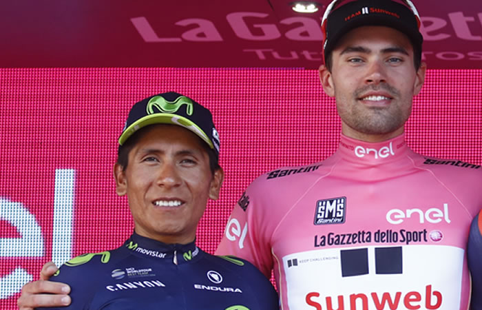 Nairo Quintana y el gran gesto con Tom Dumoulin