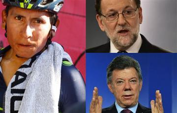 """Nairo """"un orgullo"""" para el presidente de España y no para Santos"""
