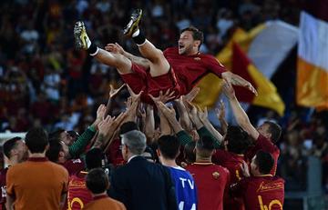Francesco Totti se despide con mensaje a Gianluigi Buffon