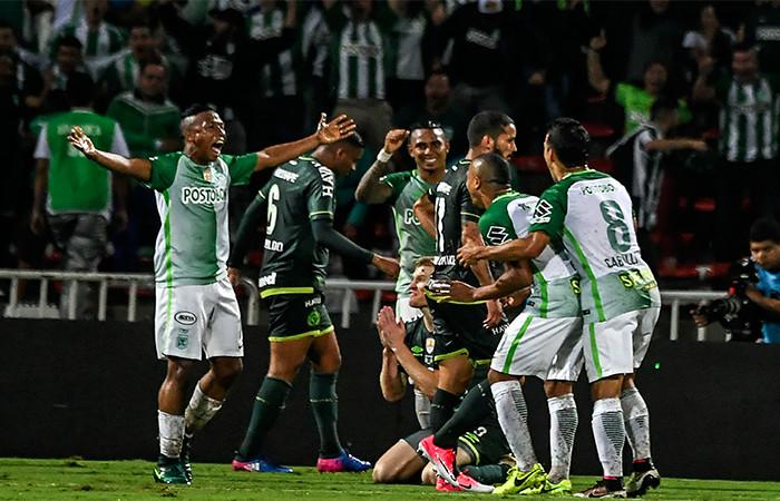 Nacional vs. Jaguares en la Liga Águila. Foto: AFP