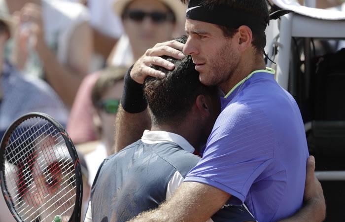 Del Potro y gesto humano que conmueve al mundo en medio del Roland Garros